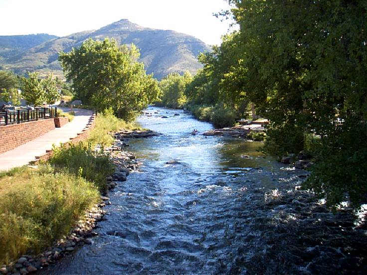 Clear Creek Canyon where I take my walks with my dogs.  Photo courtesy of