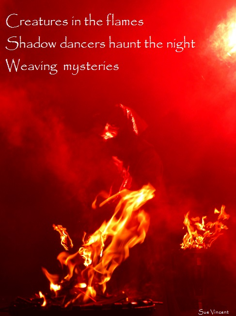 creature of the flames, shadow dancers haunt the night, weaving mysteries