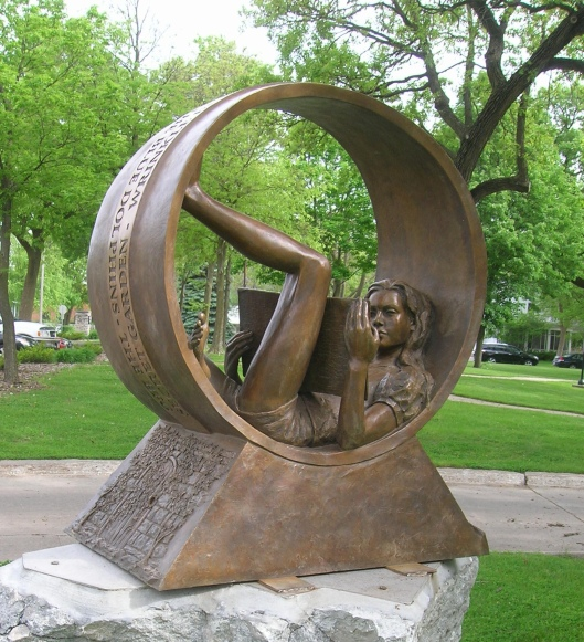 """""""Circle of Friends"""" in front of Mason City Public Library"""